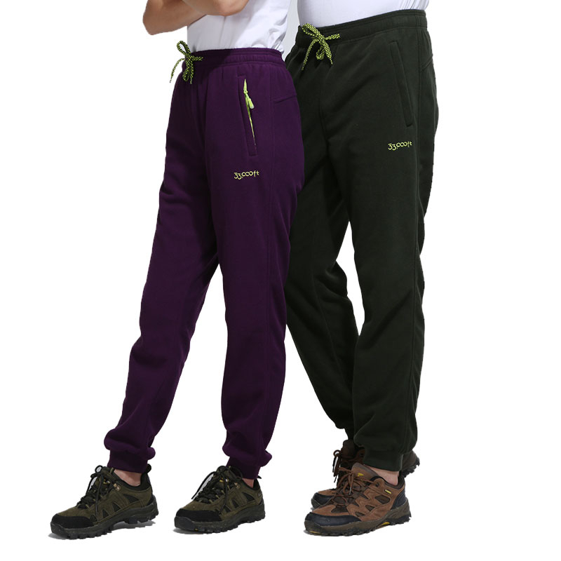 Fleece Pants Man Woman Outdoor Sport Hiking Riding Climbing Warm Fleece Trouser Autumn Winter Windproof Plus Velvet Thermal Pant