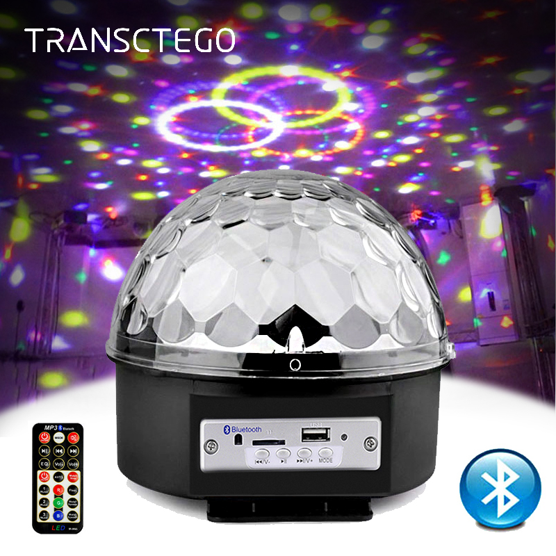 9 Color LED Disco Light With Mp3 Player Bluetooth Speaker Disco Ball Laser Party Lights 18W DJ Stage Lamp Lumiere Soundlights диск mp3 disco hits