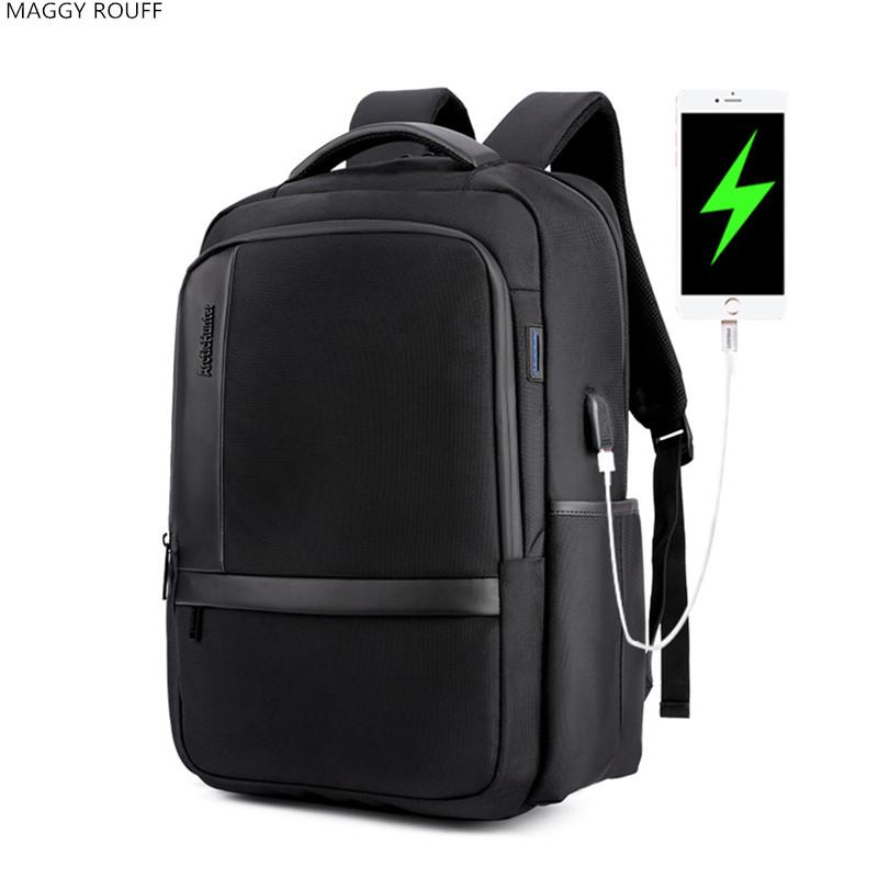 New Mens Casual Shoulder Bag Nylon Waterproof College Student Bag 15Inch Laptop Charging USB External Anti Theft Backpack lowepro protactic 450 aw backpack rain professional slr for two cameras bag shoulder camera bag dslr 15 inch laptop