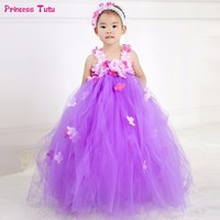 Children Flower Fairy Girl Tutu Dress Tulle Kids Girls Party Wedding Ball Gown Dress Fancy Halloween