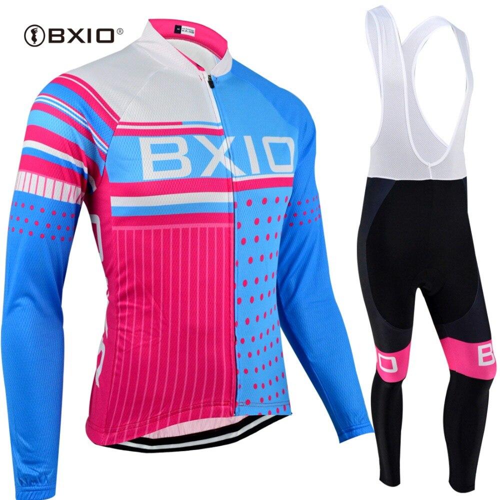 Bxio pro tour conjuntos de camisa de ciclismo roupas de manga longa esportiva anti-encolhimento respirável downhill equipamentos 013