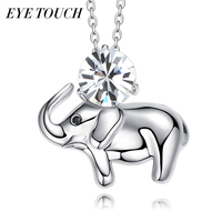 EYE TOUCH Crystals From Swarovski Elephant Shape Women Necklace Pendant S925 Sterling Silver Fashion Jewelry Bijoux