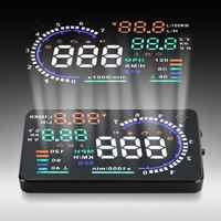 A8 Universal 5,5 Zoll Auto HUD Head Up Display OBDII Geschwindigkeit Warnung Kraftstoff Verbrauch Automobil Auto Alarm System