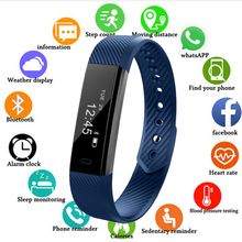 New Smart Bracelet Fitness Tracker Band Bluetooth Sleep Monitor Watch Sport Wristband for ios Android Phone pk Fit Bit Mi band 3 цена
