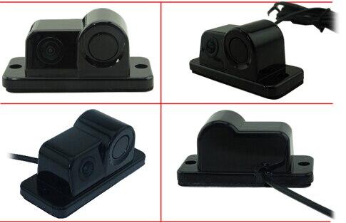 imágenes para Auto cámara con sensor de reversa de reserva del coche de alambre adecuado para los coches universales negro llevar 170 vidrio hd lente de imagen ccd