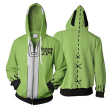 3D Print Invader Zim Hoodie Sweatshirt Anime Cosplay Costume Jacket Coats Men and Women New