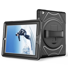 Heavy Duty Shockproof Case for iPad 2 3 4 Tablet Cover Shell with 360 Rotating L