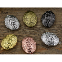 BoYuTe Factory Direct Sale 10Pcs 6 Colors 23*33*8MM Oval Vintage Floating Photo Locket Pendant