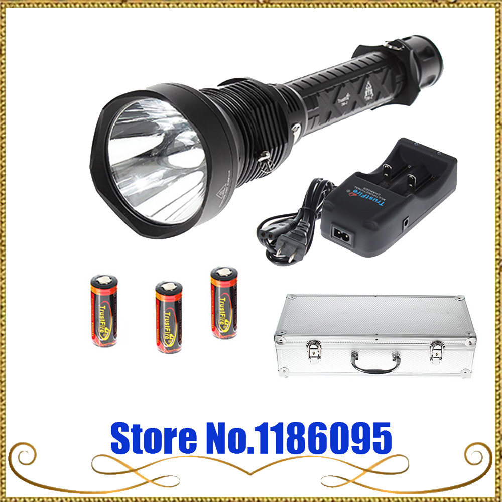 все цены на TrustFire T90-2 Luminus SST-90 5000lm 5-Mode Cool White Flashlight - Black (3 x 26650) онлайн