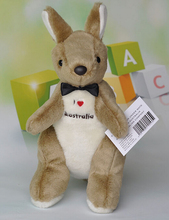 Embroidery Bow tie  kangaroo  doll  plush toys for  children  gift one piece