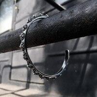 Fashion Love Punk Bracelet Retro Men Cuff Titanium Stainless Steel 18K Gold Plated Rivets Nail Cuff