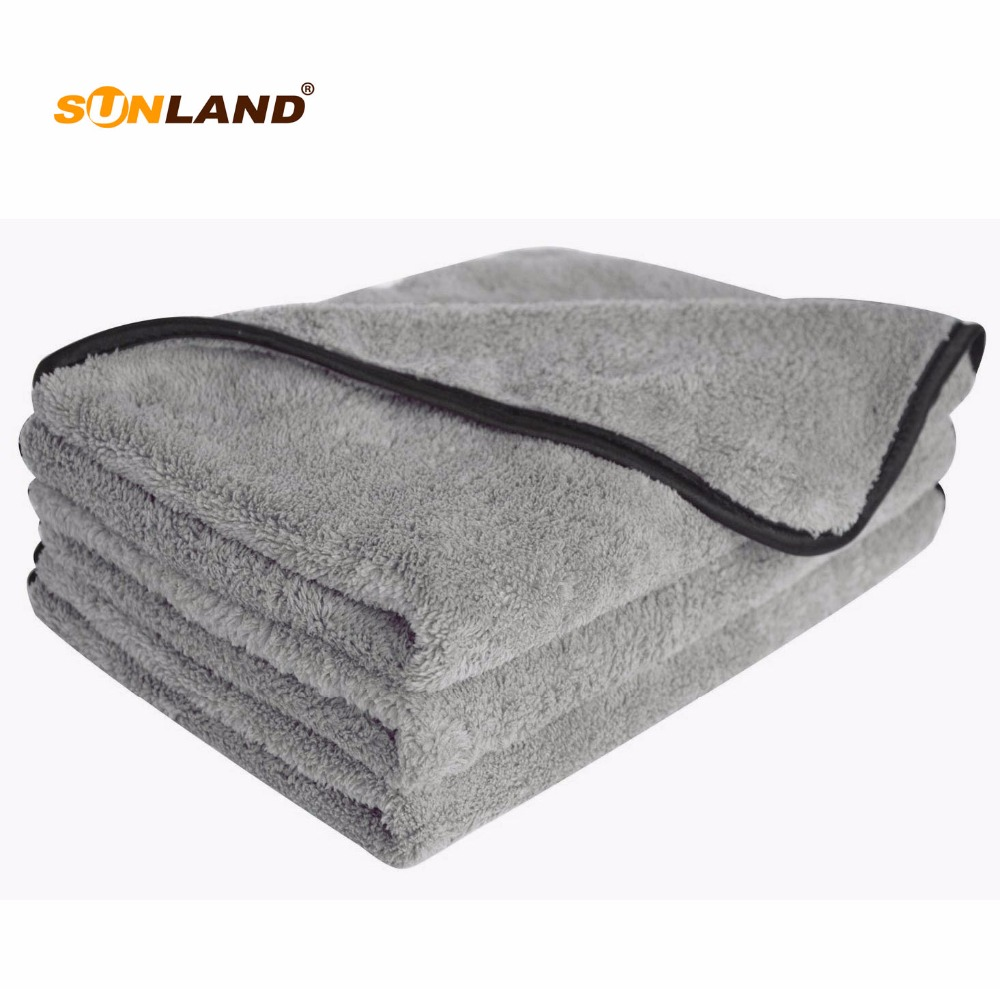 "3-Pack Super Absorbent Plush Thick Car Wash Microfiber Towel Car Cleaning Detailing Towel Care Cloth  16""x24"" 40cmX60cm"