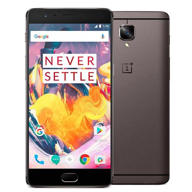 """חדש לגמרי 5.5 """"OnePlus 3 T A3003 נייד טלפון האיחוד האירופי גרסה 6 GB RAM 128 GB ROM Snapdragon 821 16MP + 16MP 4G NFC אנדרואיד Smartphone"""