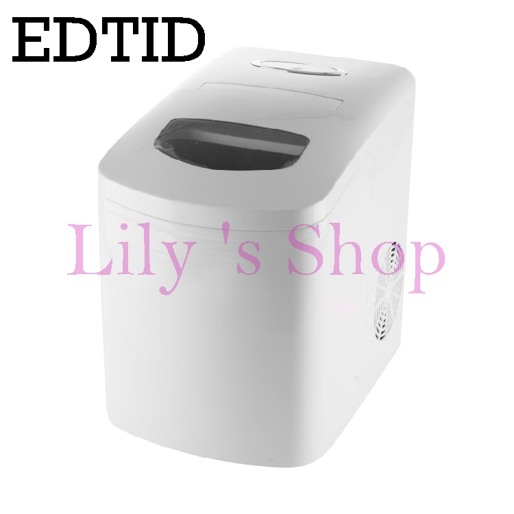 EDTID Portable Automatic ice Maker Household bullet round ice make machine for family small bar coffee shop 220-240V 120w EU US edtid 12kgs 24h portable automatic ice maker household bullet round ice make machine for family bar coffee shop eu us uk plug