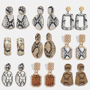 Женские леопардовые металлические висячие серьги Miwens, большие геометрические сексуальные висячие серьги в стиле панк, 32 дизайна, ювелирное...