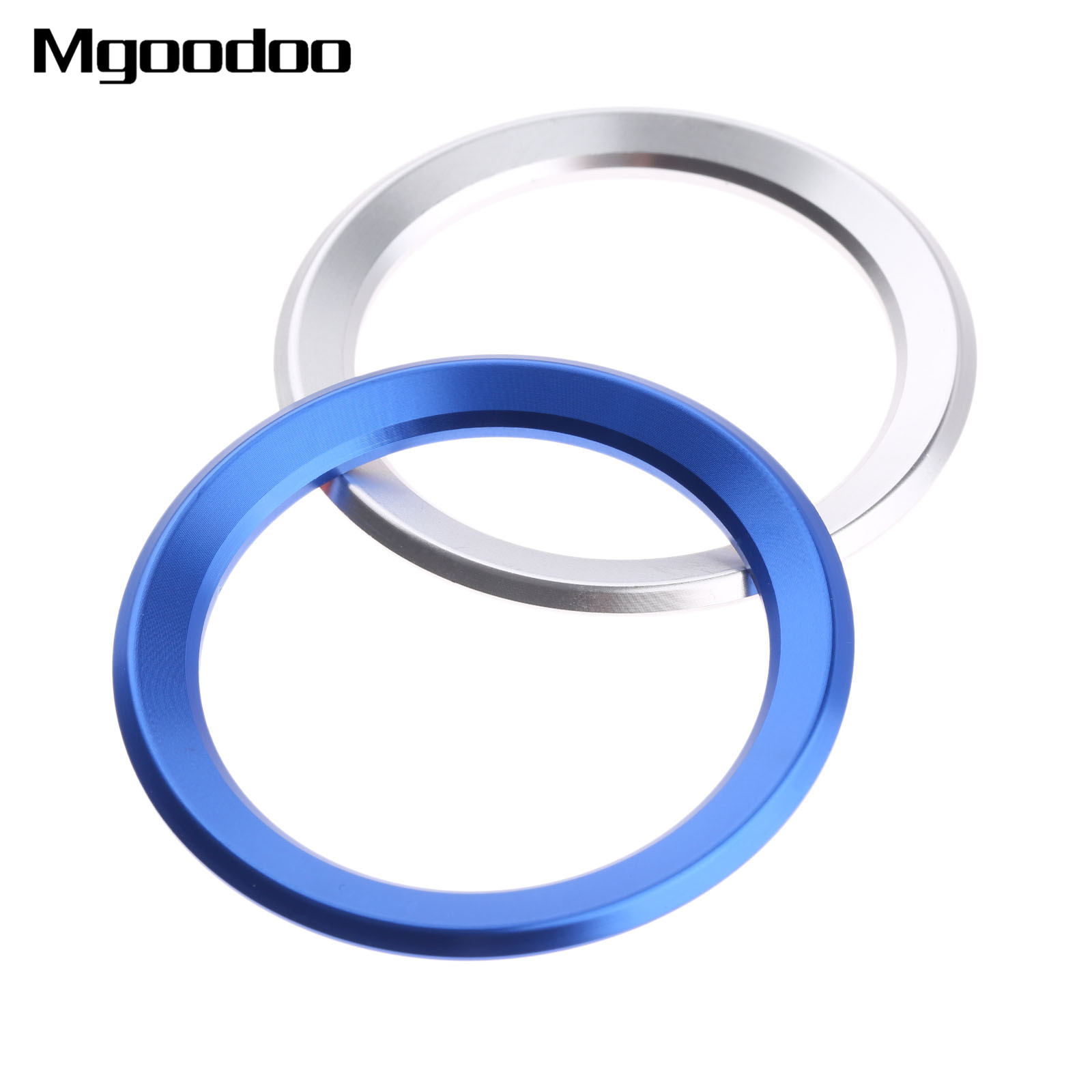 1x Car-styling Car Steering Wheel Decoration Circle Cover Sticker For BMW New 1 3 4 5 7 Series M3 M5 X1 X3 X5 X6 Aluminium Alloy