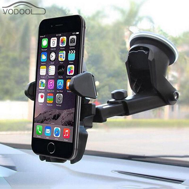 Universal Suction Cup Car Phone Holder Auto Vehicle Dashboard Windshield Stand Bracket Support for Mobile Interior Accessories universal car support holder for suction cup mount black