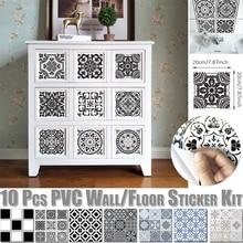 Furniture  Decal  Art  Waterproof Wall Shower  Kitchen Sticker  Wall  Tile Morocco  Bathroom PVC  Mural Decoration D30