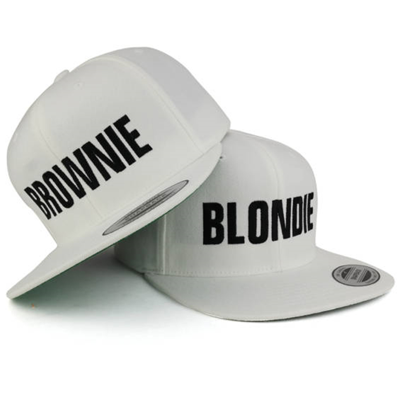 BROWNIE & BLONDIE Brand Women Snapback Hats Embroidery Flat Edge Baseball Cap Hip Hop Style BROWNIE BLONDIE Girlfriends Gorras blondie – pollinator 2 lp