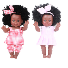reborn baby toy dolls 35cm silicone vinyl reborn baby girl dolls bonecas play house toys child playmates Cheap Gifts