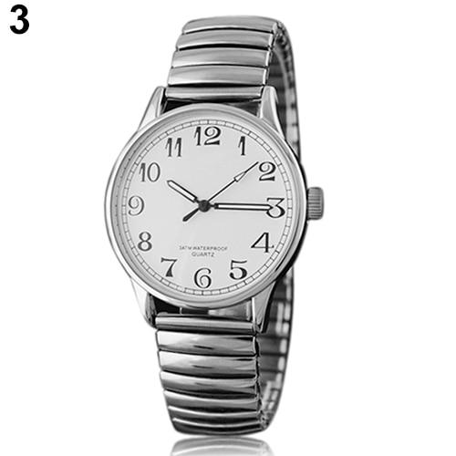 Couple Lover Watch  Men Women Design Vintage Alloy Quartz Analog Stretchable Wrist Watch  1MAG 6T5K