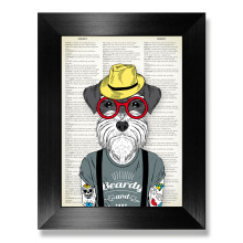 COLORFULBOY Tattoo Dog Canvas Art Print Wall Painting Animal Posters And Prints Pop Pictures For Living Room Decor