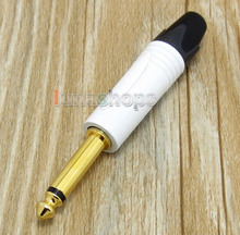 6.5mm 6.35mm White Mono Plug Audio Connector male adapter For DIY Solder