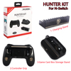 Hot selling TNS-860 3 in 1 Nintend Switch Hunter Kit, Controller Grip, Charge Stand, Game Card Box Storag for Nintendo Switch
