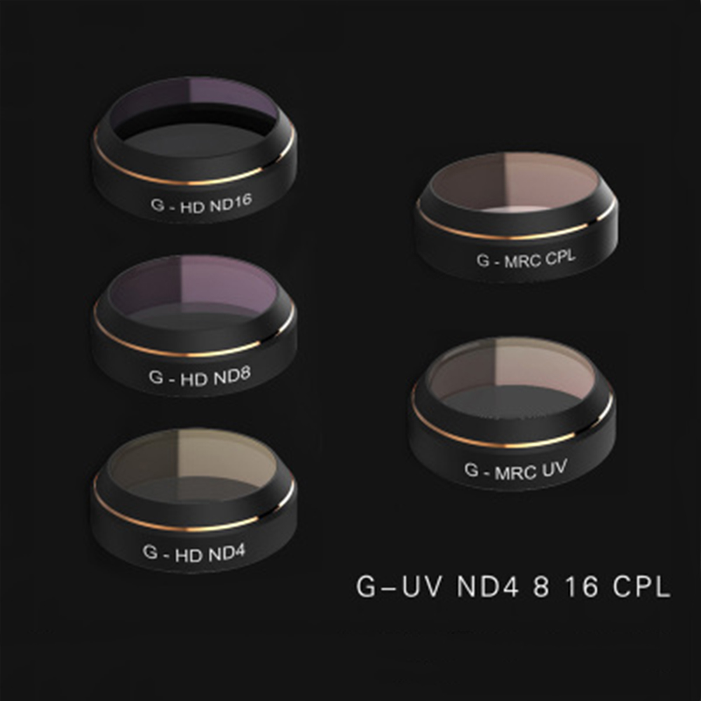 PGYTECH G-ND4 ND8 ND16 MCUV CPL Filter Lens Set Gimbal Accessories  for DJI Mavic Pro Drone Quadcopter 5pcs set pgytech lens filters hd nd4 nd8 nd16 nd32 mrc pl for gopro hero 5 camera