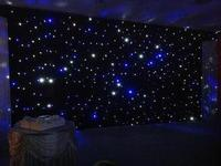 3m by 6m LED Star Sky Wedding Curtain/Fireproof Velvet Wedding Backdrop With LED Light/Stage Star Sky Backdrop