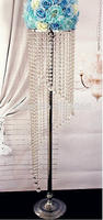 10pcs/Lot, Luxury! 120cm TallX 25cm Wide Acrylic Crystal Wedding Centerpiece, Wedding Lead Road