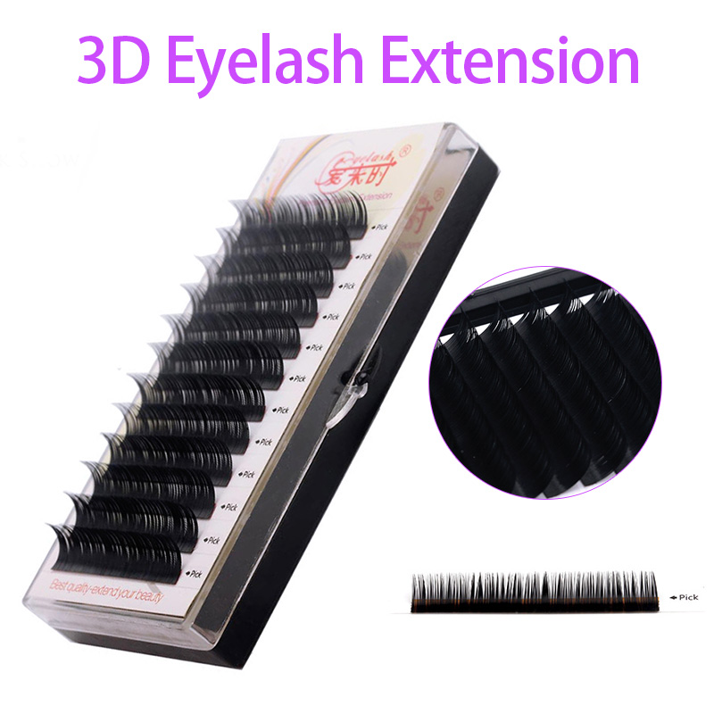 NEWCOME All Sizes Natural Long Korea Silk Eyelash Extension Handmade Eye Lashes 3D Individual Volume Lashes Makeup Free Shipping in False Eyelashes from Beauty Health