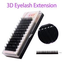 NEWCOME All Sizes Natural Long Korea Silk Eyelash Extension Handmade Eye Lashes 3D Individual Volume Lashes Makeup Free Shipping
