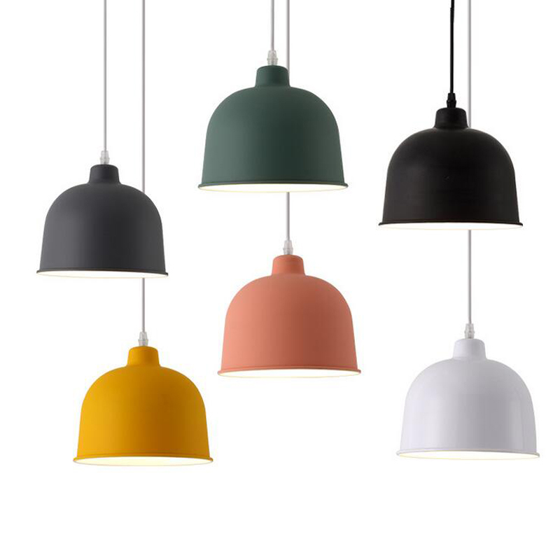 Macaron Colorful Scandinavian Pendant Lights Aluminium Lampshade Modern Decorative Indoor Lighting For Resteaurant Hanging lampsMacaron Colorful Scandinavian Pendant Lights Aluminium Lampshade Modern Decorative Indoor Lighting For Resteaurant Hanging lamps