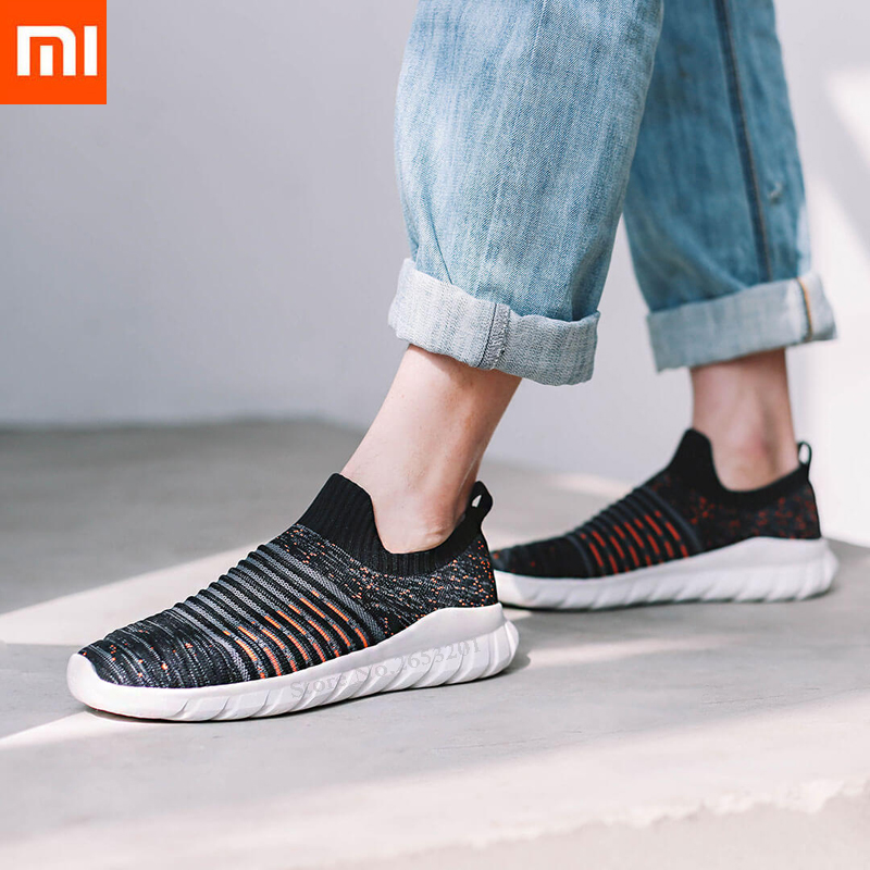 Xiaomi Mijia Men s Casual Shoes Flying Woven Shockproof Lightweight Comfortable Breathable Walking Shoes 3 Color
