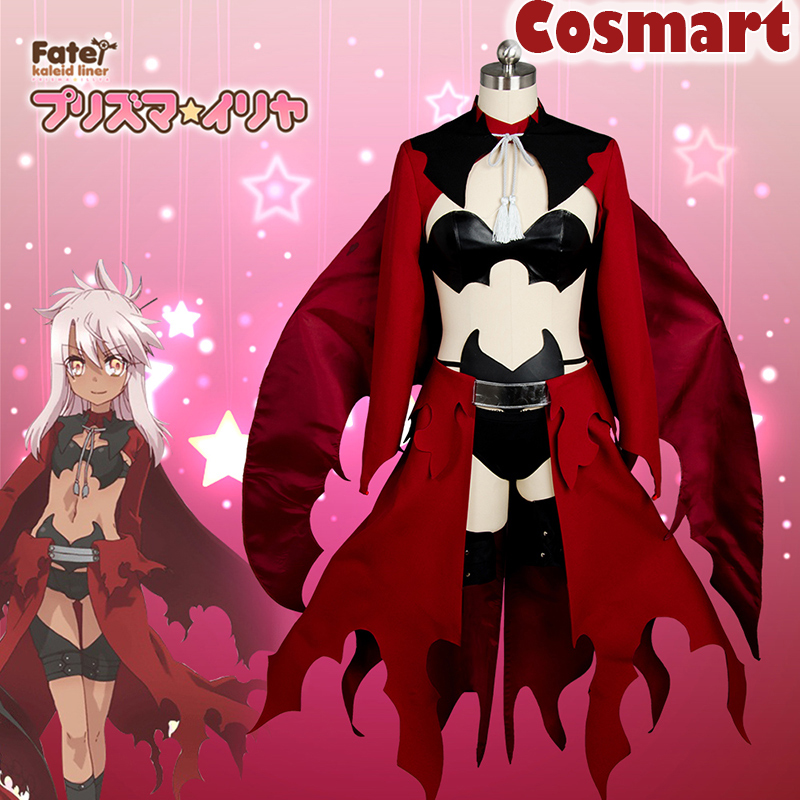 Anime Fate kaleid liner 3rei Illyasviel von Einzbern figure Sex Uniform Dress Halloween Cosplay costume Unisex New 2018 Carnival