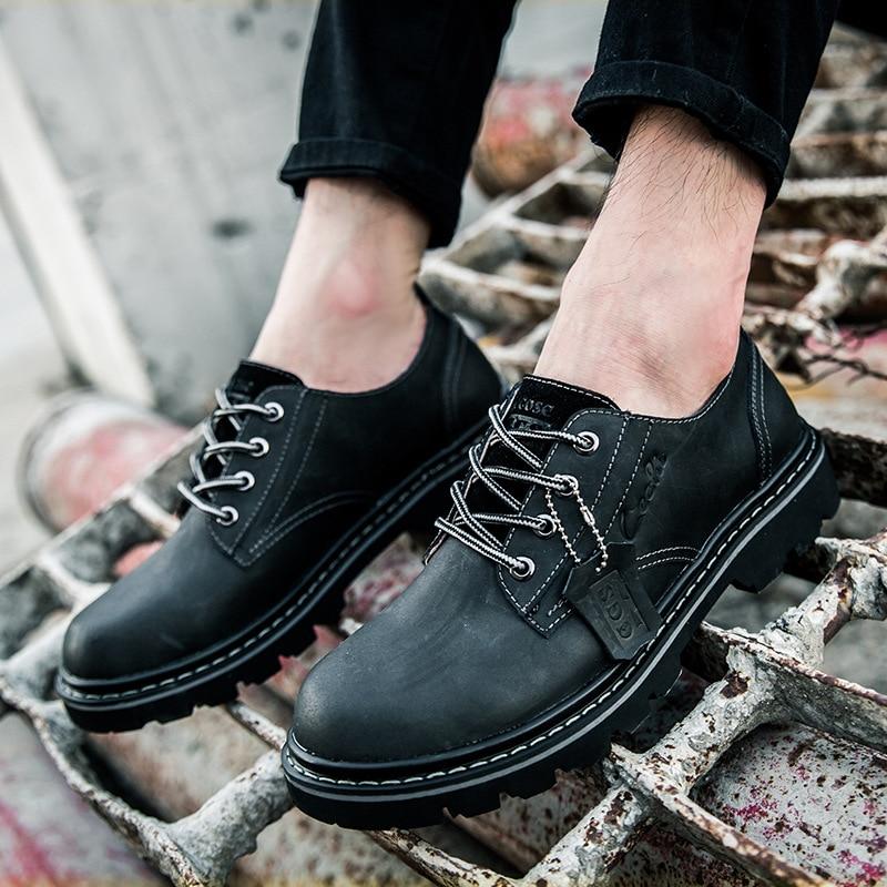 Mode Qualité Bottes Arrivée Nouvelle Haute Cuir marron Hommes Aa50104 Armée Noir De En Chaussures Cheville SwdqYSP