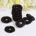 Black Fashion Telephone Hair Rubber Rope Bands Band Rope Ponytail Black Coil the rope free-shipping