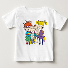 field little soldier cartoon childrens short T-shirt cute and breathless boys girls shirts