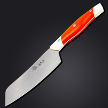 Kitchen knife, you can cut the meat/slice/cut fish/vegetable/cut fruit/Wan knife, green handle stainless steel knives