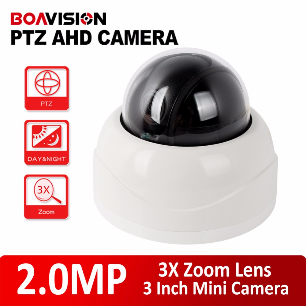 Mini Dome CCTV PTZ AHD Camera 1080P 2.8-8mm Auto-Focus Manual Varifocal 3x Zoom Lens 3 Inch Mini Security Camera 2MP IR 15m Nigh 4 in 1 ir high speed dome camera ahd tvi cvi cvbs 1080p output ir night vision 150m ptz dome camera with wiper