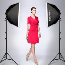 GSKAIWEN Photography Studio LED Lighting Kit Adjustable Light with Stand Softbox Tripod Photographic Video fill light