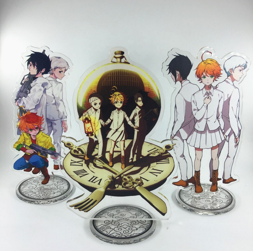 Anime The Promised Neverland Acrylic Stand Model Toys Conny Emma Ray Norman Action Figure Pendant Toy 15cm Double-side Gift