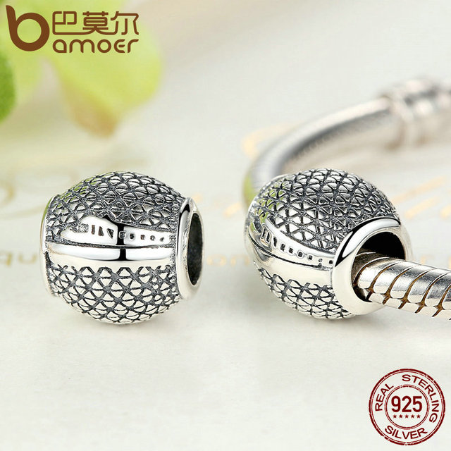 Sterling Silver Round Shape Beads Charm