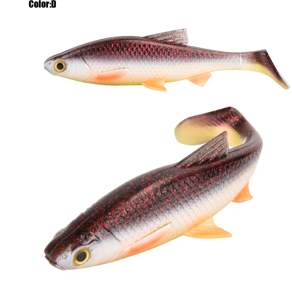 RoseWood 5g 10g 20g 40g 3D Soft bait fishing lure Silicone Shad plastic lures Roach Paddle Tail 3D scanned Lively kicking action  (8)