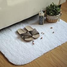 White Cotton Absorbent Soft Doormat Floor Rugs Non-slip Bath Mats Super Magic Slip-Resistant Pad Salon Bathroom Carpets