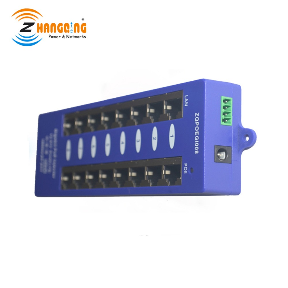 Wall Mount PoE Injector 8 Port 1000Mbps Gigabit PoE Panel For Surveillance IP Camera MikroTik and UBNT products Wall Mount PoE Injector 8 Port 1000Mbps Gigabit PoE Panel For Surveillance IP Camera MikroTik and UBNT products