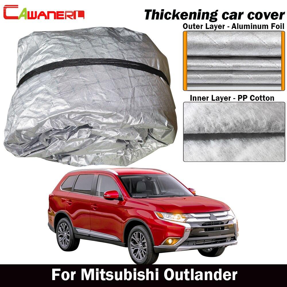 Cawanerl pour Mitsubishi Outlander bâche de voiture étanche coton épais extérieur Anti-UV soleil pluie grêle neige couverture résistante à la poussière