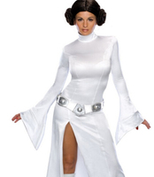Free Shipping STAR WARS Alderaan Princess Leia Organa Solo Dress Belt Costume Adult Child Cosplay Dresses