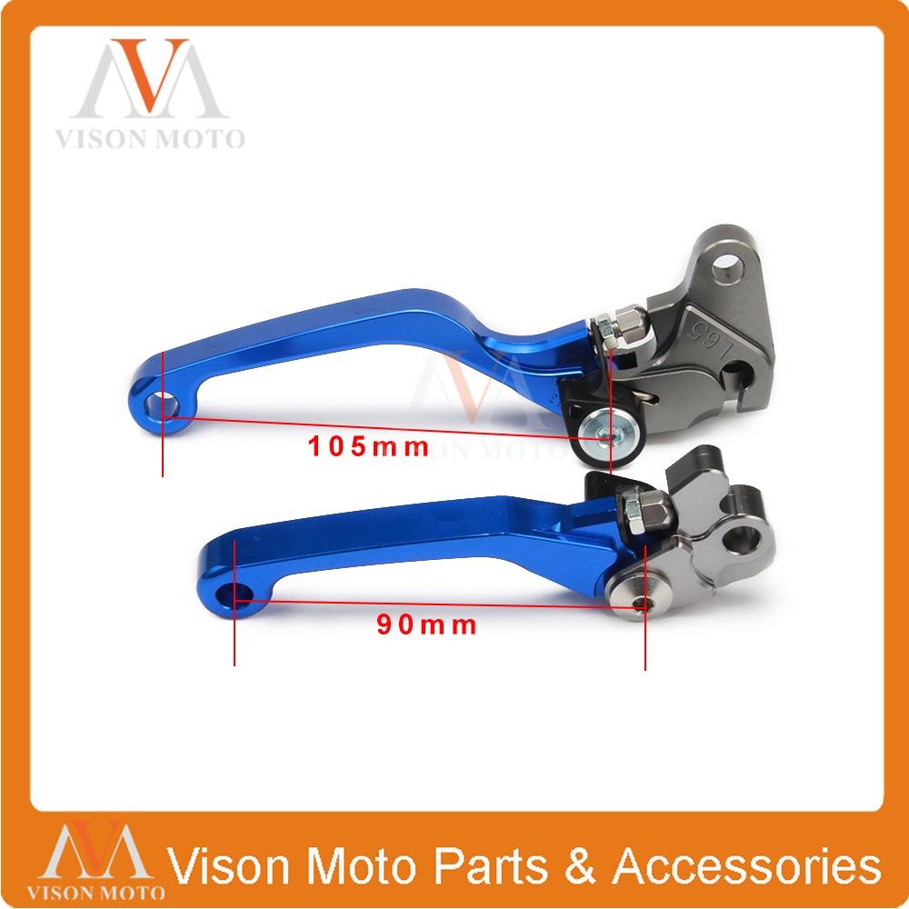 CNC Pivot Brake Clutch Levers For Yamaha WR250F WR450F 05-15 WRF Motocross Enduro Supermoto Dirt Bike for yamaha yz80 yz85 kawasaki kdx200 kdx220 suzuki rm85 rm125 rm250 drz125l cnc dirttbike pivot brake clutch levers blue